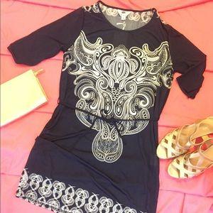 Boho Navy Dress